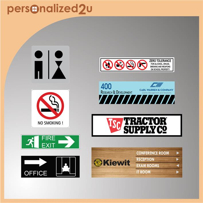 Sublimation Office Signs