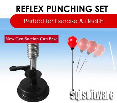 SUCTION Punching Ball Bag Fitness Gym Equipment Boxing - FREE GLOVES