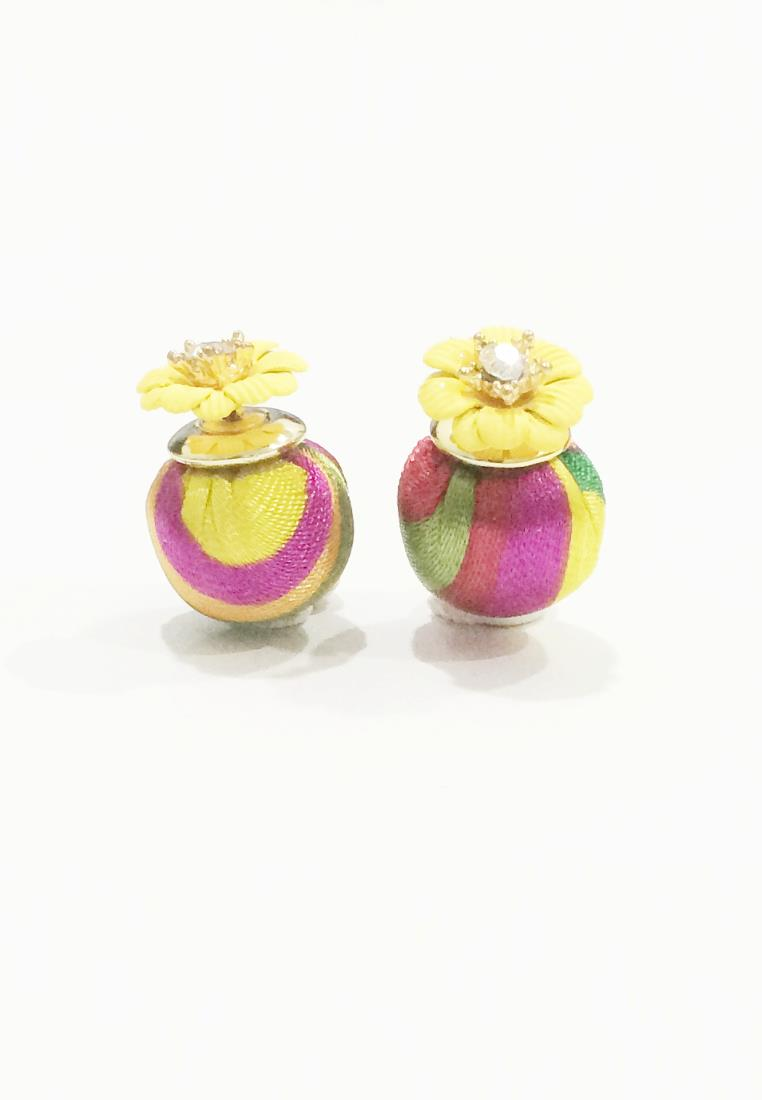 Summer Floral Double Pearl Earrings (Free Shipping)