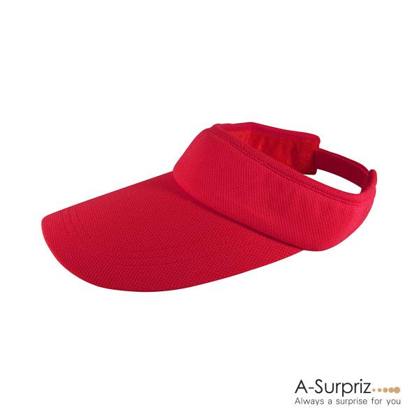 Summer Sport Hat Outdoor Leisure No Top Duck Tongue Sun Hat (Red)
