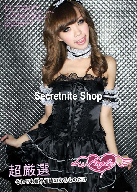 Sun@ Sexy Lingerie Night Wear Cosplay Maid S-224