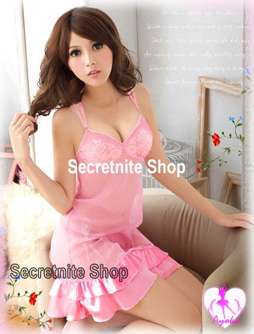 Sun@ Sexy Pink Babydoll with G-string S-559