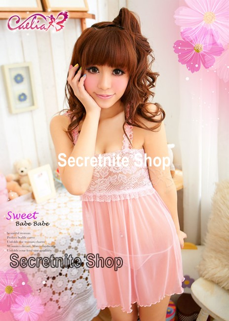 Sun @ Sexy Pink Babydoll with G-string S-864
