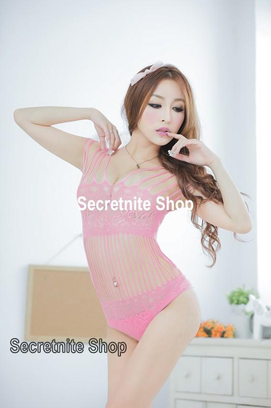 Sun @ Sexy Pink Bodystocking Lingerie BS-212 (Teddy)