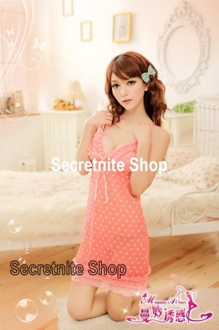 Sun @ Sexy Pink Dot Babydoll with G-string S-1152