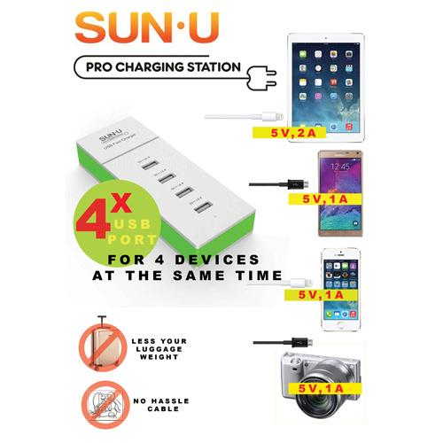 SUN-U Pro Charging Station (4 USB Port)