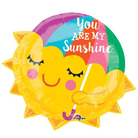 YOU ARE MY SUNSHINE Umbrella Sun Foil Balloon 33679