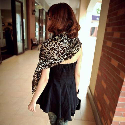 Super Big High Quality Leopard Pattern Scarf/Shawl 11164