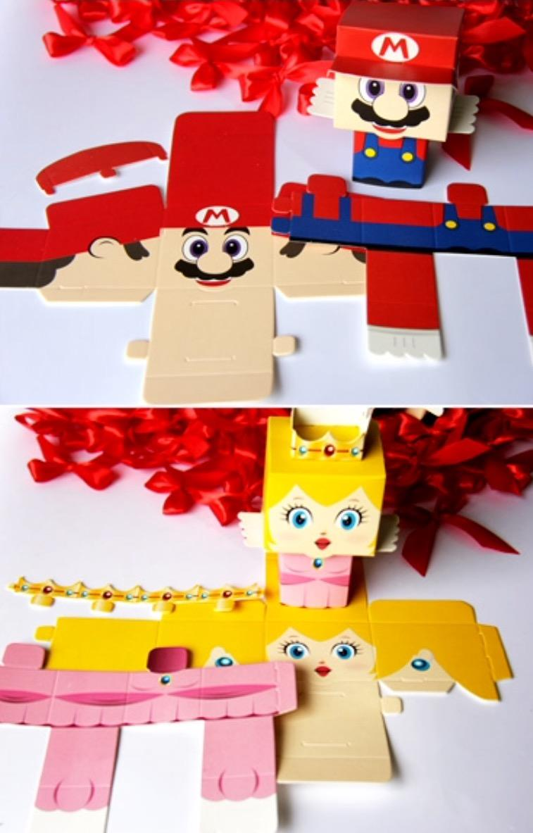 Super Mario & Princess Peach Gift Box for Weddings & Parties