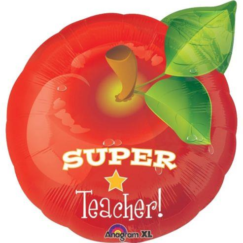 SUPER TEACHER! Big Red Apple Foil Balloon Teacher's Day 17601