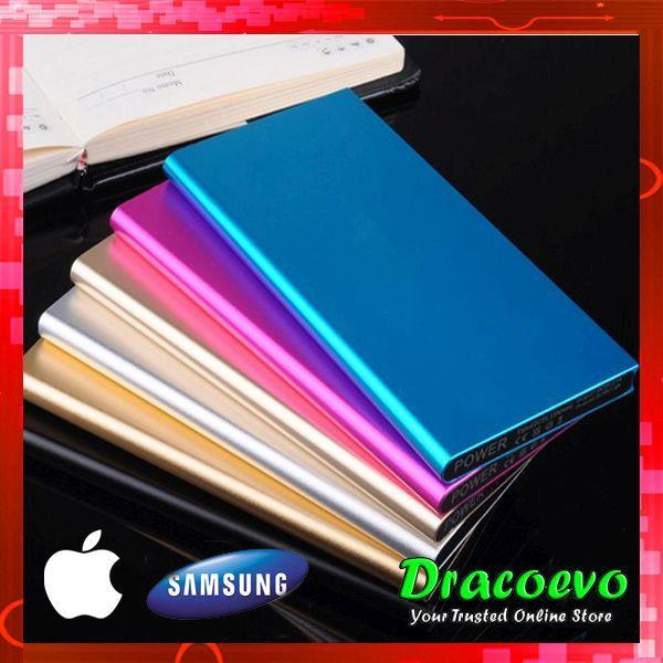 Super Thin Apple Samsung 50000 mAH Aluminum Power Bank LED Light