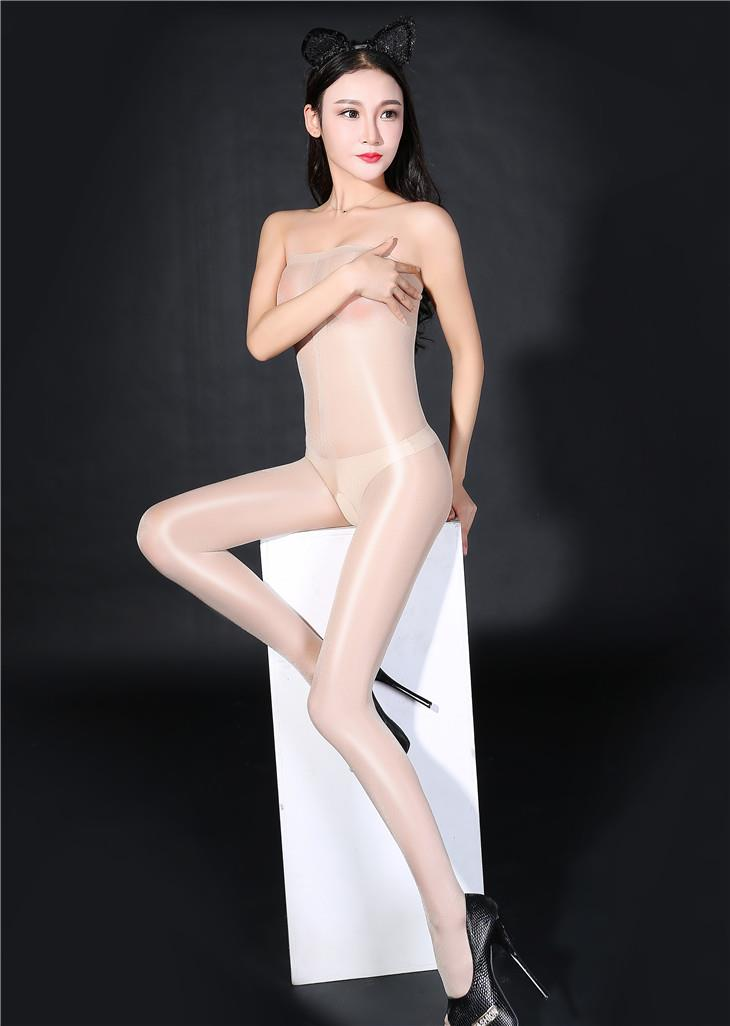 Super Thin Transparent Bright Silk Stocking (Beige)