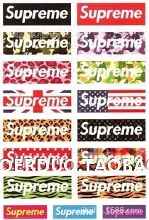 SUPREME A4 Luggage Laptop Tablets Sticker LS 004