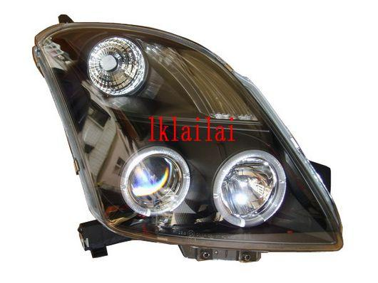 SUZUKI SWIFT '05 Projector Head Lamp LED Ring [Black]