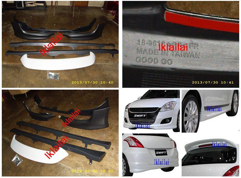 Suzuki Swift `13 OEM Body Kit PP Material Skirting+Spoiler