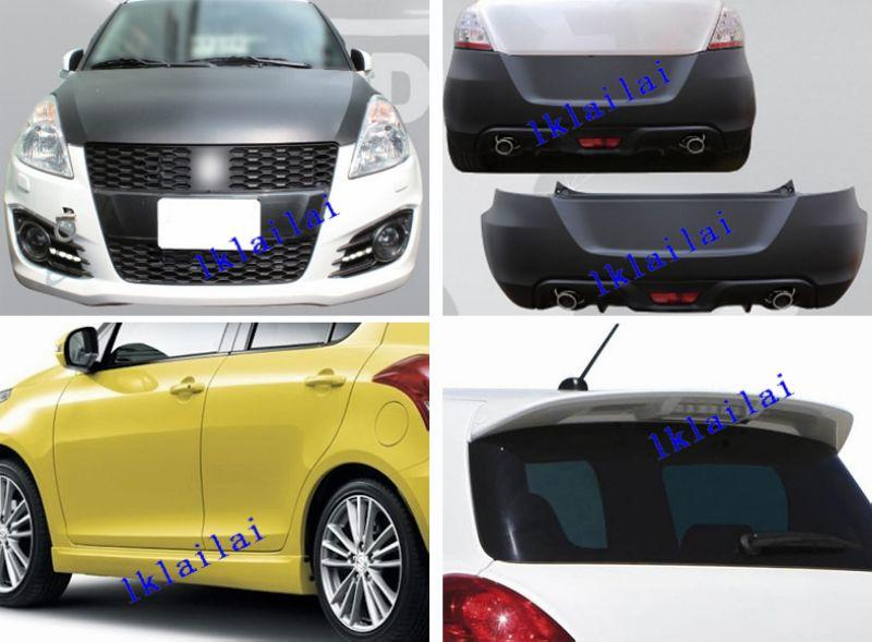 Suzuki Swift '13 Sport Style Body Kit PP Bumper + Spoiler [LED]