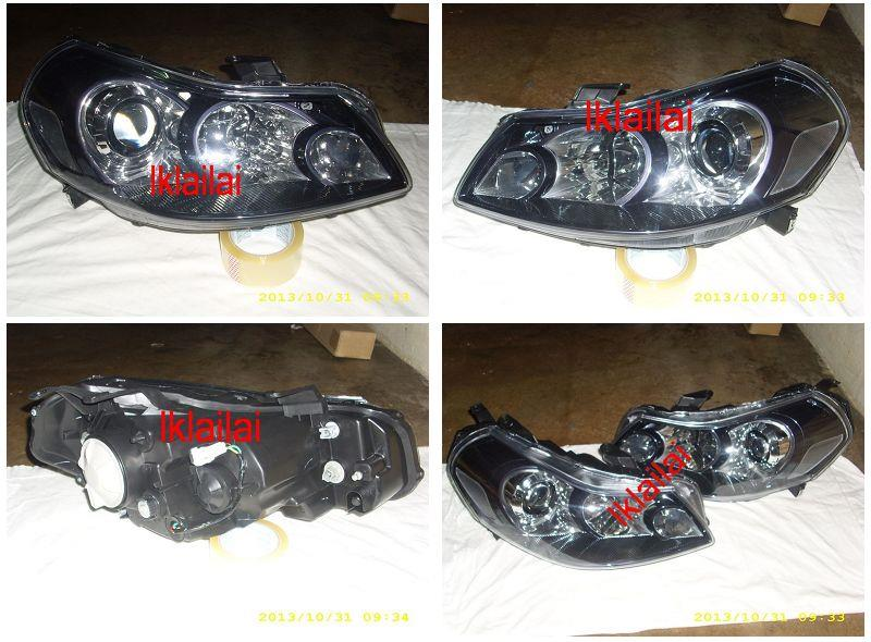 SUZUKI SX4 `06-09 Projector Head Lamp Black/Chrome Housing