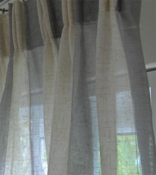 Sweet D Gray lace curtains 12 ft FP