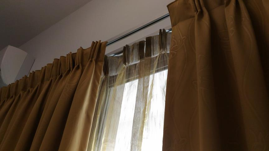 Sweet ZR Light Brown lace curtains 12 ft FP