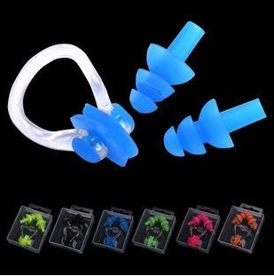 Swimming Essential~Ear Plug+Nose Clip Set