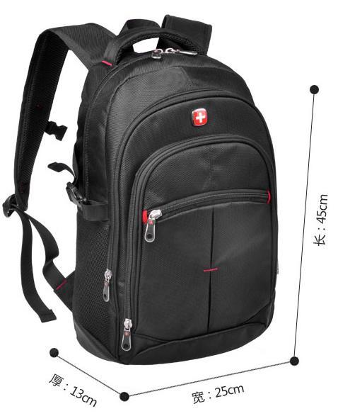 Swiss Gear SwissGear Fashion Backpack Travel Bag Laptop Beg Black