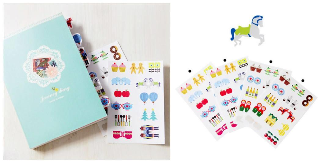 SY0337 INDEX LABEL STICKER SET (4 SHEETS IN SET)