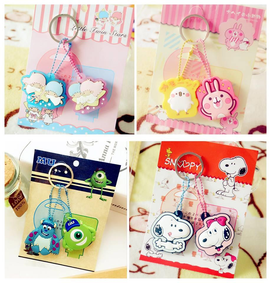 SY0395 ICONIC CARTOON KEY HOLDER SET (2PCS IN SET)