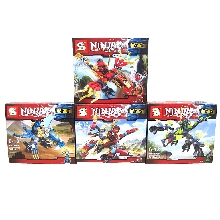 SY249 Ninjago Tornado Fighter Spinjitzu (4 in 1)