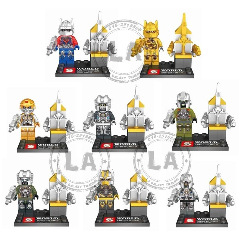 SY602 Transformer Series Mini Figures (8 in 1) Set Building Block Toys