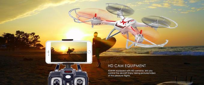 Syma X54HW FPV With 720P HD Camera 2.4G 4CH 6Axis Altitude Hold RC Qua