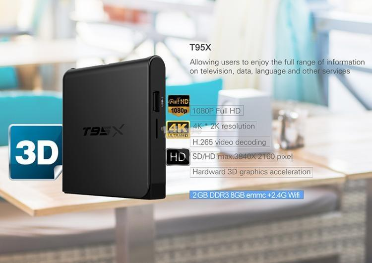 T95X S905X better than xiaomi TV Box Mibox Android Box 2+8G