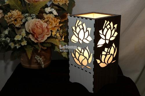 Table Light Double Lotus