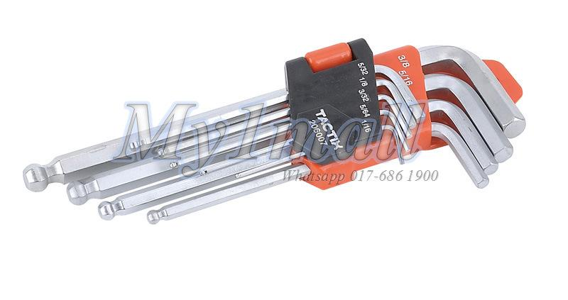 TACTIX 206007 HEX KEY LONG 9PC BALL END