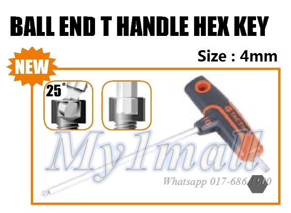 TACTIX 206307 T HANDLE BALL END HEX KEY 4MM