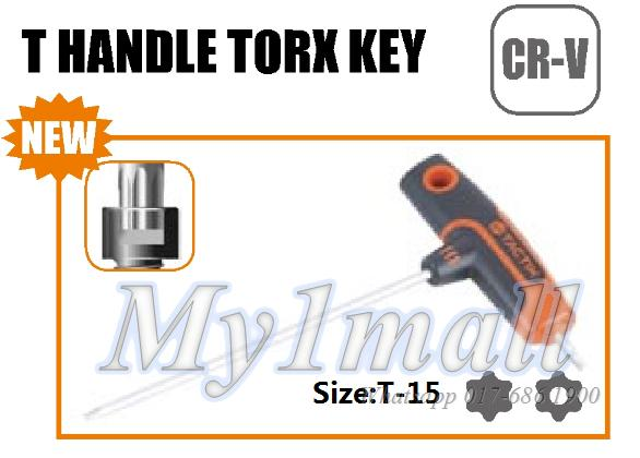 TACTIX 206379 T HANDLE TORX KEY T-15