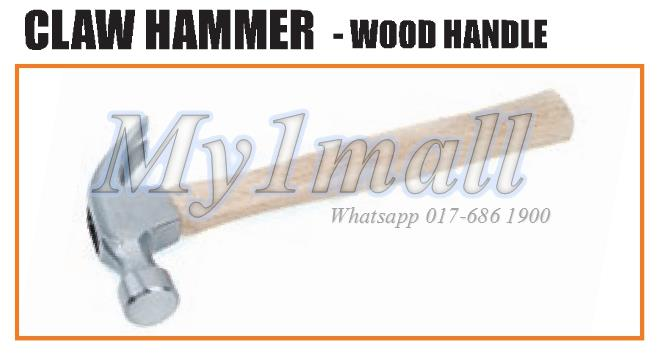 TACTIX 221213 HAMMER CLAW 450G(16OZ)WOOD HANDLE