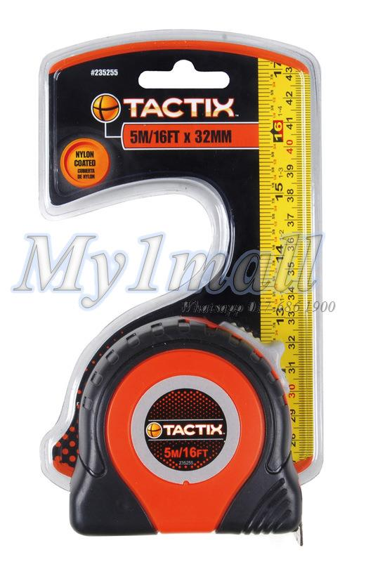 "TACTIX 235255 TAPE MEASURE 5.0m(16')x32mm(1 1/4"")"