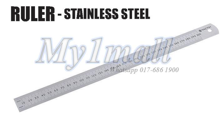 TACTIX 239216 RULER STAINLESS STEEL 600MM/24""