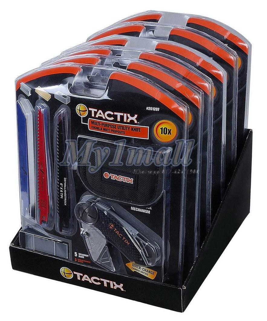 TACTIX 261207 KNIFE FOLDING UTILITY WITH 3PC