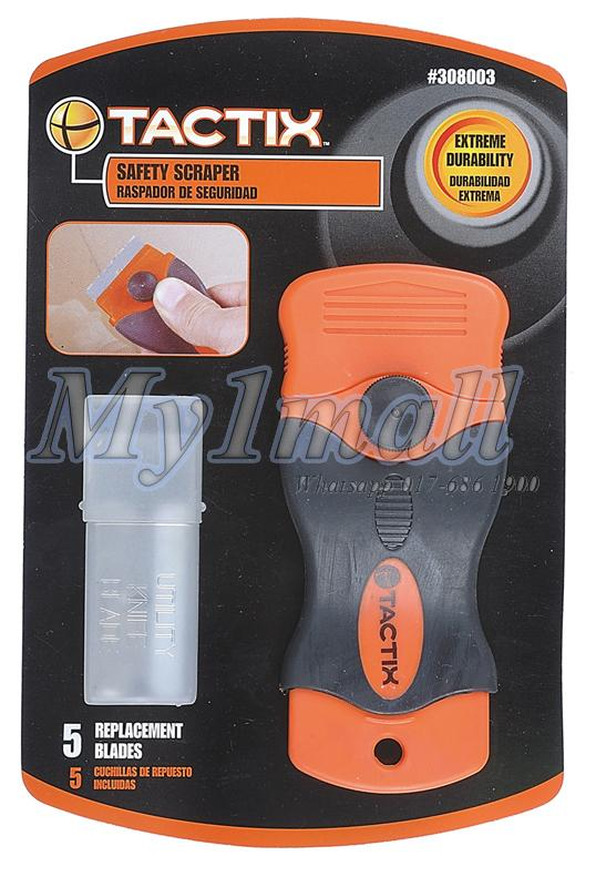 TACTIX 308003 SAFETY SCRAPER WITH 5pcs BLADE