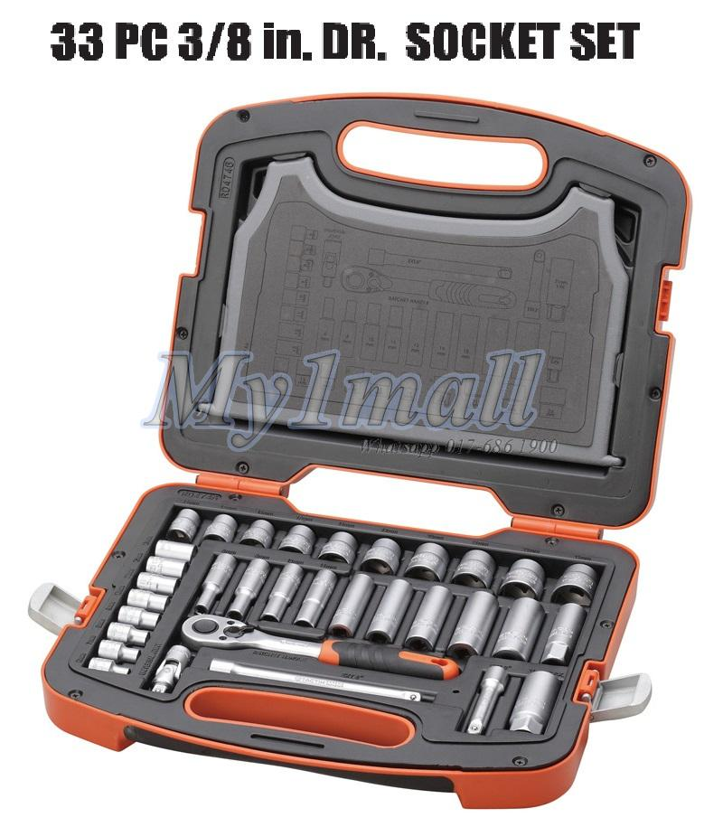 "TACTIX 365011 SOCKET SET 33PC 3/8""DR"