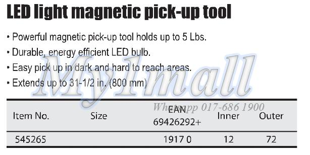 TACTIX 545265 LED LIGHT MAGNETIC PICK-UP TOOL