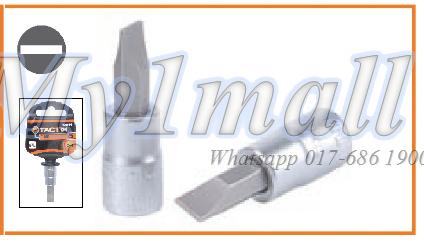 "TACTIX BIT SOCKET 1/4""DR SLOT 3mm,4mm,5.5mm,7mm,8mm"