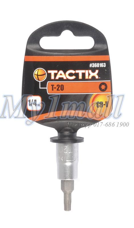 "TACTIX BIT SOCKET 1/4""DR TORX 8,10,15,20,25,27,30,40"