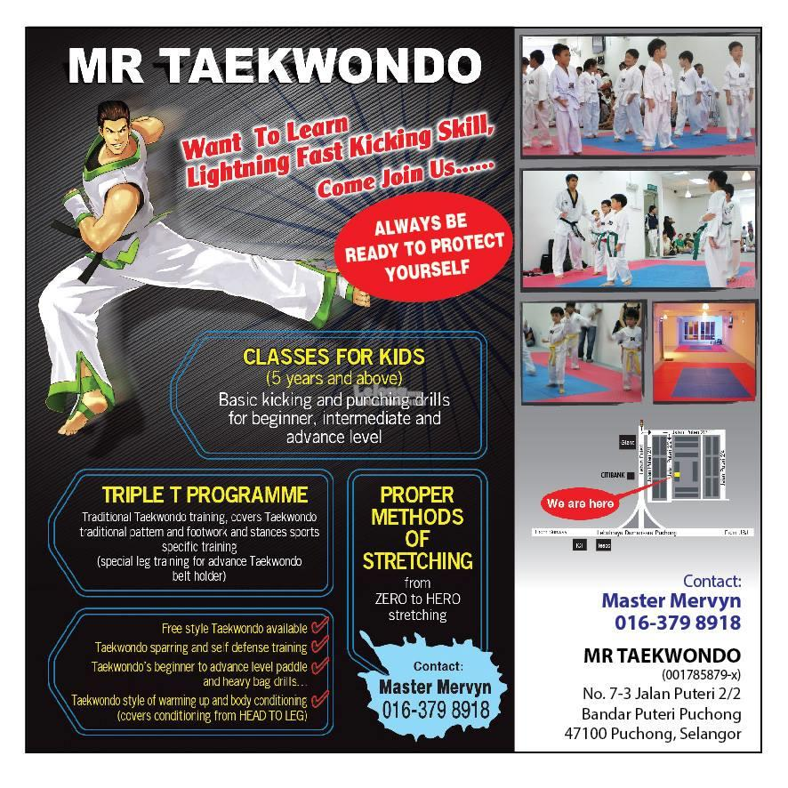 taekwondo 2016/17 new intake for children and teens puchong