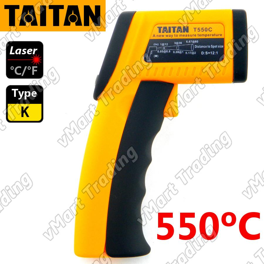 TAITAN T550C+ 2-in-1 Non-contact Infrared with Type-K Thermometer
