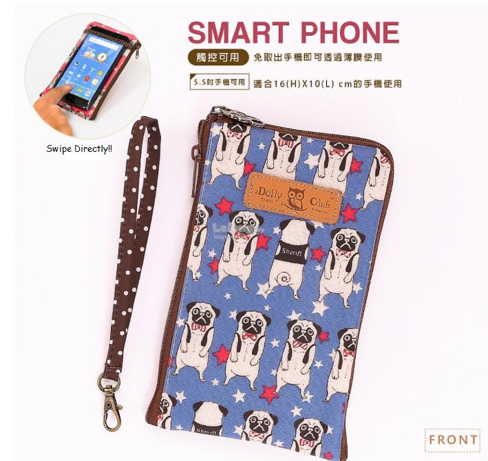 Taiwan Dolly Club Phone Case & Long Wallet Pouch Angry dog