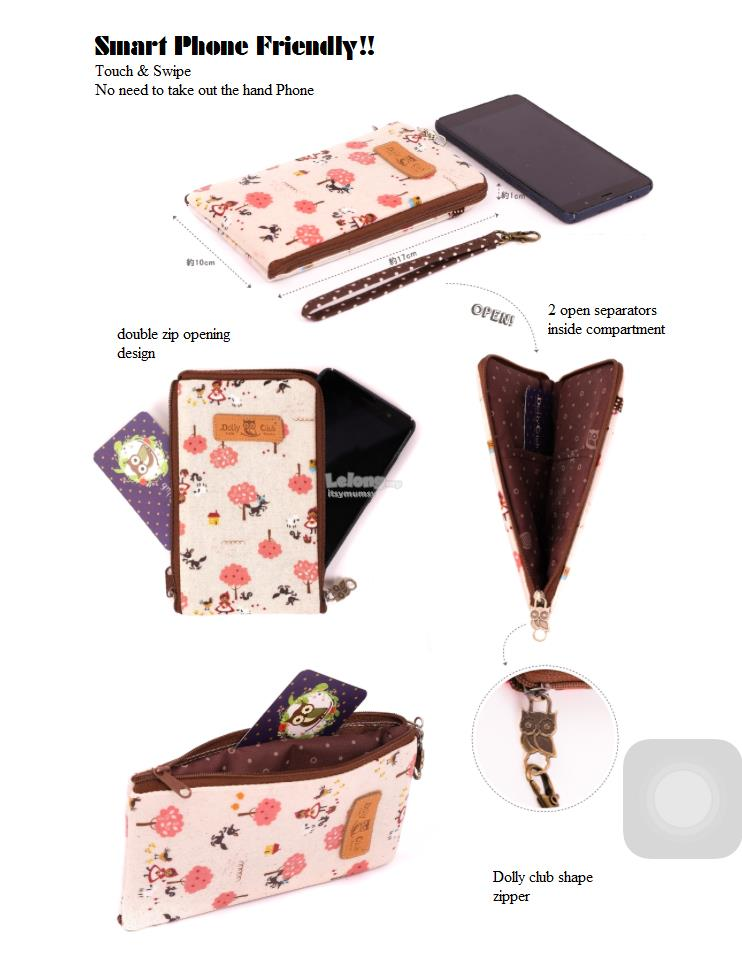 Taiwan Dolly Club Phone Case & Long Wallet Pouch Little Red RidingHood