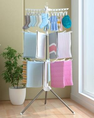 Taller Version - 3 Tiers Foldable Cloth Drying Rack and Hanger