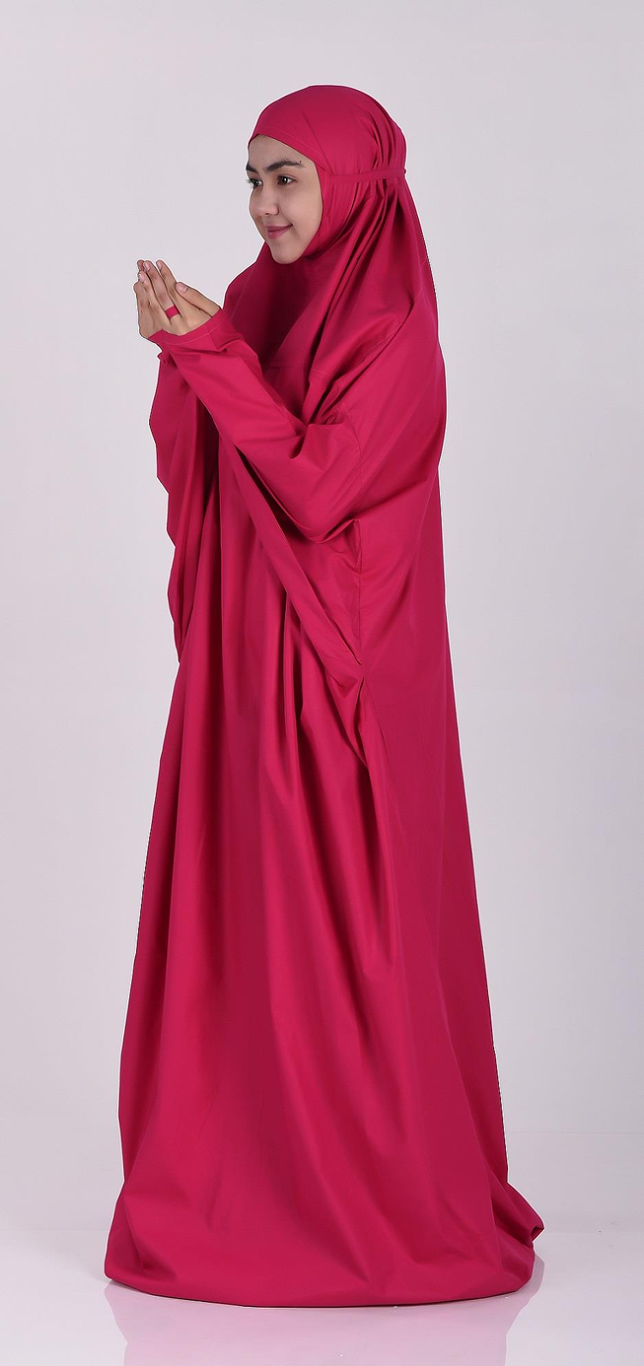 Telekung EZ Mix Cotton- Dark Pink